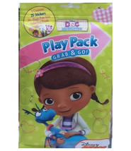 Doc McStuffins Grab n Go Play Pack! Crayons, 25 Stickers, 24-Page Colori... - $5.00