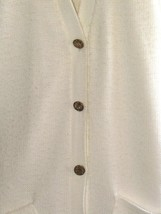 Vintage A Sweet Tree Original Womens White Button Up Cardigan With Metal... - $29.70