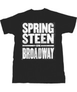 Bruce Springsteen-On Broadway-Distressed Logo-Large Black  T-shirt - $20.31