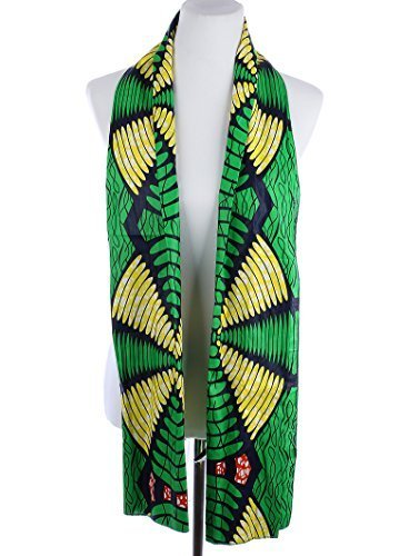 "African Print Cotton Scarf Wrap 71"" x 23"" (Multi 7)"
