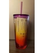 Starbucks 2021 Purple Pink Ombré Sunrise 18 Ounce Glass Cold Cup Tumbler... - $29.71