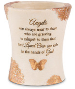 "Angels Are Near to Those Who Are Grieving Memorial Vase Small New 4.75"" ... - $12.86"