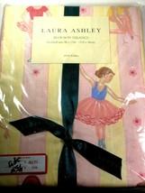 "Laura Ashley Ballerina Window Valance 86"" X 15"" Pink & Yellow Striped Blouson  - $17.81"