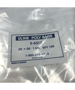 """100 - 20"""" x 30""""  Clear Poly Bag 1 mil Uline S-6317 Plastic Flat Open Top  - $29.99"""