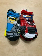 14 Pairs DC Comics Marvel Batman/Spiderman Socks, Character Socks, Sz L 3-9 - $14.73