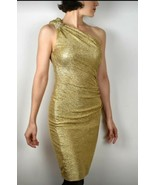 Vintage Xscape by Joanna Chen size 4 womens gold cocktail dress off the ... - $48.66