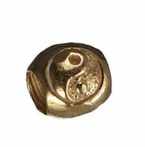 NICE New 24kt gold plated BEAD jewelry Charm Ying Yang Yin - $22.13