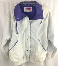 Vintage 80s Innovations by Izzi Jacket Size Medium White Purple 1980s M ... - $11.83