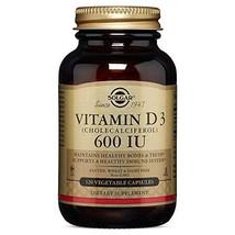 Vitamin D3 Cholecalciferol 15 mcg 600 IU Vegetable Capsules - 120 Count
