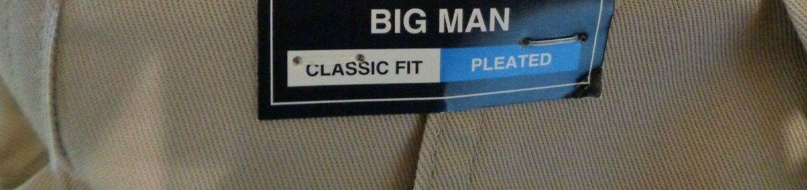 Roundtree & Yorke Size 46 ELASTIC WAIST Khaki Cotton Pleated New Mens Shorts