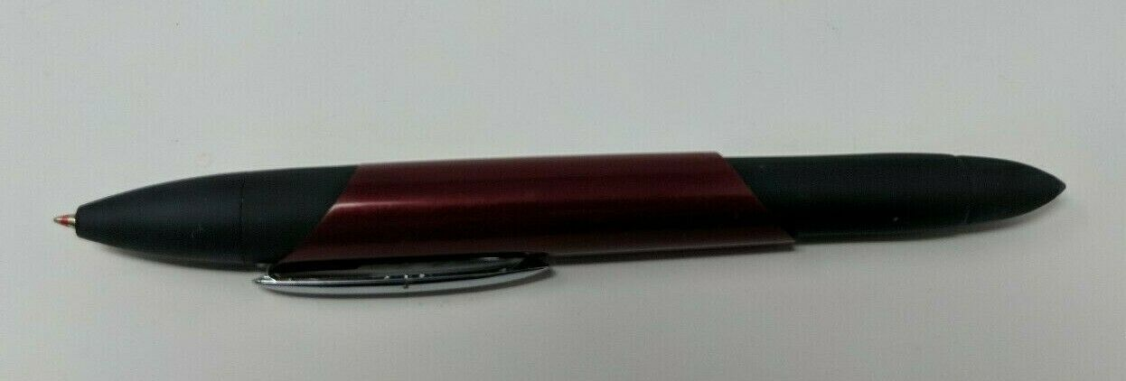 Cross Multi-Color Pen Black Red Blue Twist and Pull Metal Rubber Grip VTG EUC