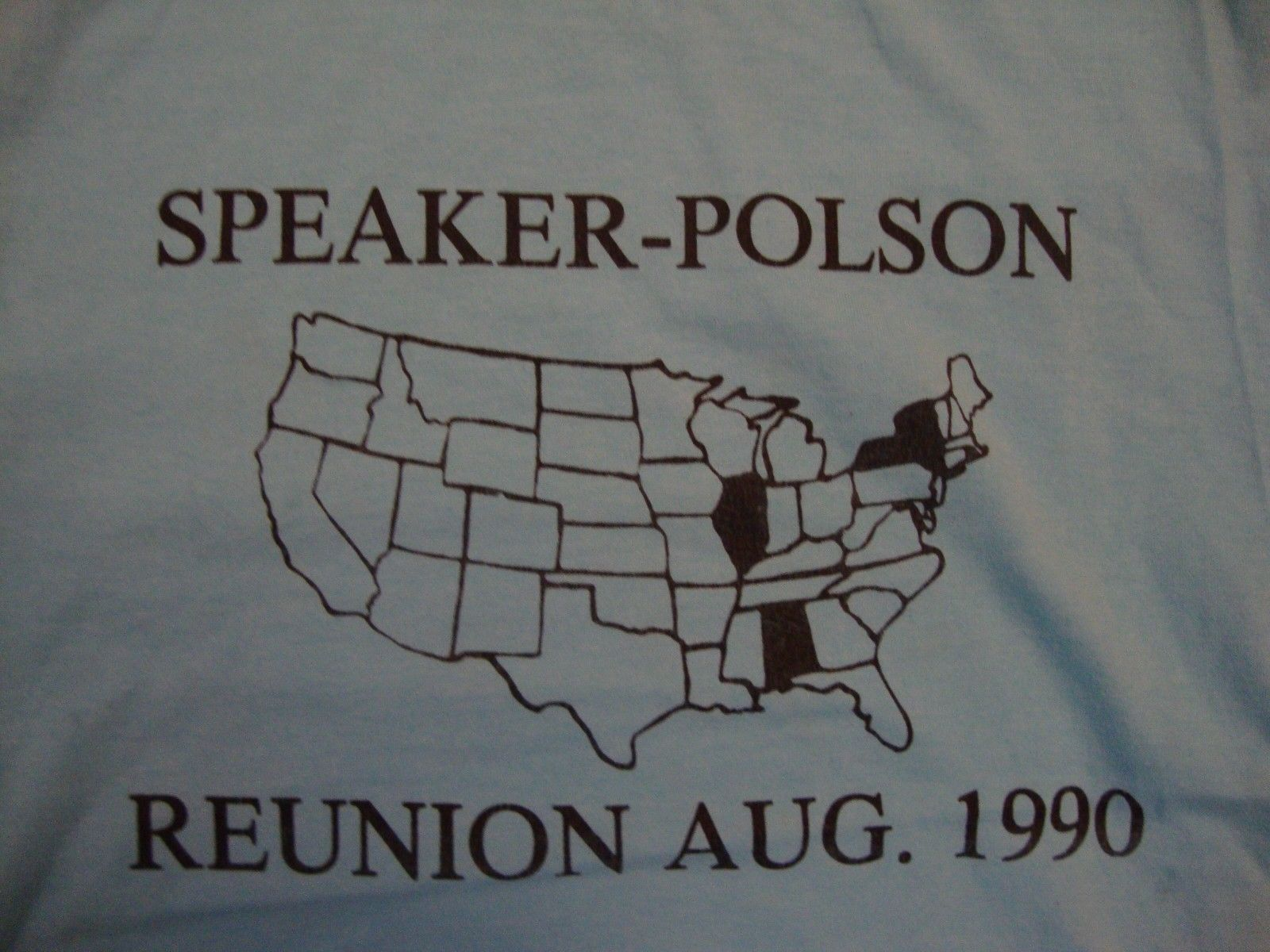 Primary image for Vintage Speaker-Polson Reunion Aug. 1990 Blue T Shirt Size S