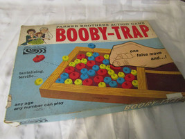 1965 Parker Brothers Booby Trap Complete In Box Vintage Board Game - $34.99