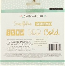 Crate Paper Snow and Cocoa Die Cut Wooden Pieces - 10 Pieces image 2