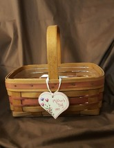 Longaberger 1994 Mother's Day Basket #16004 With Protector & Tie On - $16.00