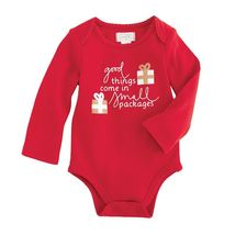 "Mud Pie Baby Girl Christmas One Piece Crawler ""Good Things..."" Size 0-6 ... - $16.95"