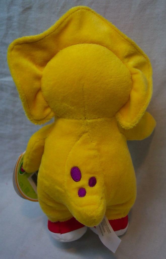 "Fisher-Price Barney Buddies SOFT YELLOW BJ DINOSAUR 8"" Plush Stuffed Animal NEW"