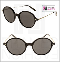 Oliver Peoples Corby OV5347SU Black Pewter Gold Round Sunglasses 5347 Unisex - $202.95