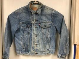 Levis Denim Trucker Jacket Distressed Vintage 1980's  Mens Size 46 USA R... - $69.29