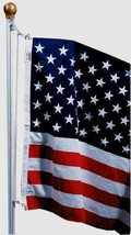 SFP18F-S Valley Forge 3'x5' Poly United States USA AMERICAN FLAG SET Hea... - $106.81