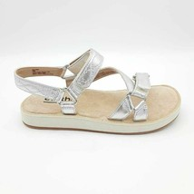 Earth Womens Sylt Saba Ankle Strap Sandals Metallic Leather Hook & Loop ... - $53.42