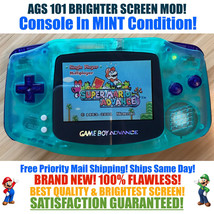 Nintendo Game Boy Advance GBA Glow System AGS 101 Brighter Backlit Mod MINT - $118.70
