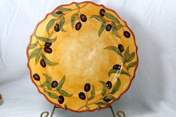 Portmeirion Studio 2007 Duet Collection Olive Bistro Dinner Plate - $20.78