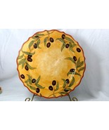 Portmeirion Studio 2007 Duet Collection Olive Bistro Dinner Plate - $18.89