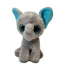 "Ty Peanut Gray Plush Elephant Blue Glitter Eyes 7"" tall - $13.54"
