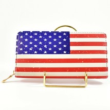 American Flag USA Red White Blue Patriotic Clutch Wallet New image 2