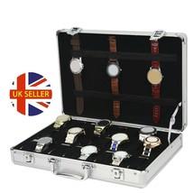 Watch Storage Case Aluminium 24 Grid Watch Box Watch Display - $57.74