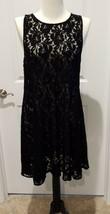 Free People Black Sleeveless Lace Dress Size L  NWT - $27.23