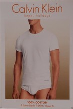3 CALVIN KLEIN 100% COTTON WHITE CREW NECK T SHIRTS UNDERSHIRTS S M L XL... - $29.90