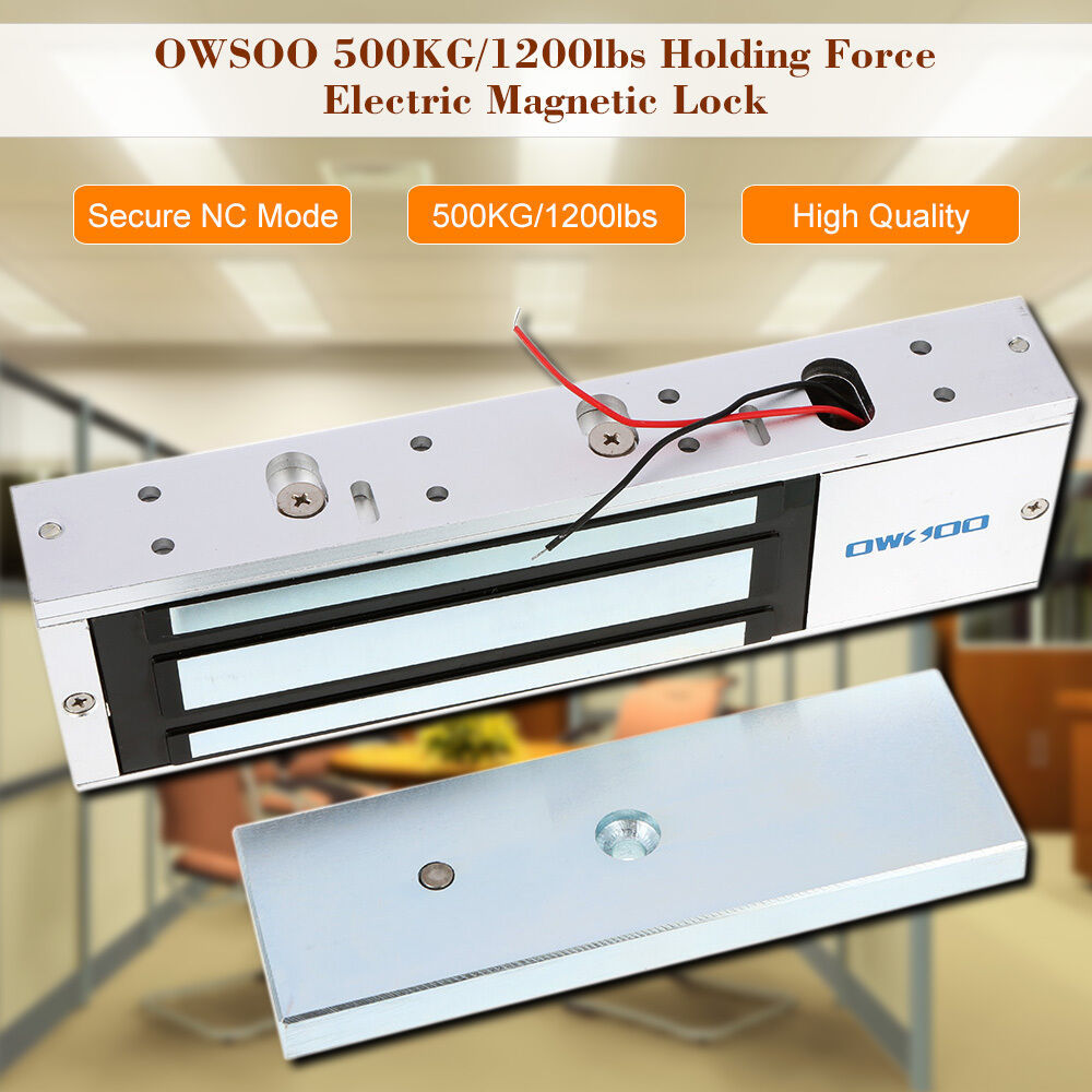 Primary image for OWSOO 12/24V 500KG/1200LBS Electric Magnetic Gate Lock Door Access Latch Light