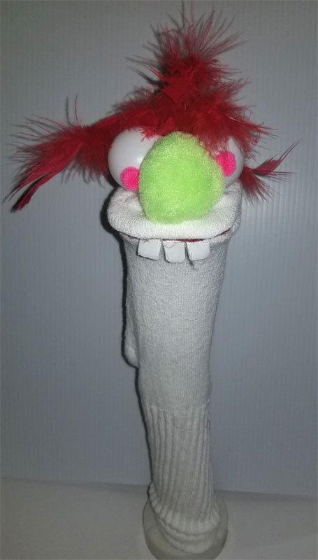 "D26 * Basic Custom ""Red Hair w/Bad Teeth""  Sock Puppet * Custom Made"