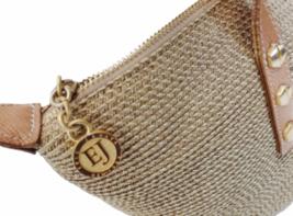 Eric Javits New York Natural Straw & Leather Shoulder Bag Purse image 2
