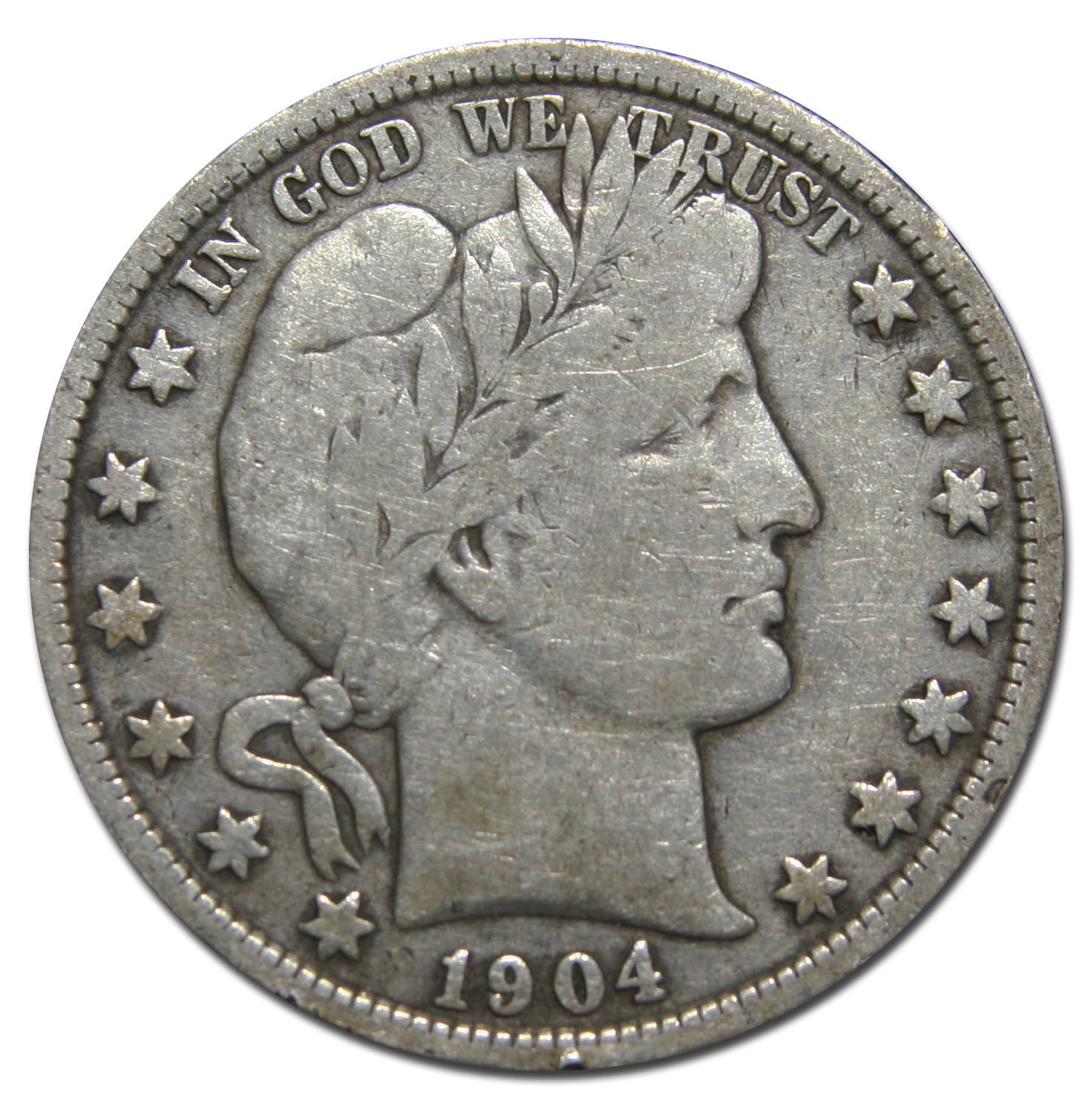 1904 Liberty Barber Head Half Dollar 50¢ Silver Coin Lot MZ 3156