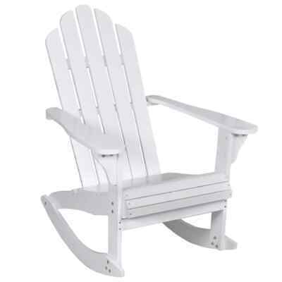 vidaXL Garden Rocking Chair Wood White Rocking Chair Hardwood Firwood Seat