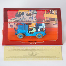 Blue Willys Jeep Destination Moon Voiture Tintin Cars Atlas 1/43 New image 2