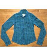 Abercrombie Kid's Girl's Blue & Green Plaid Long Sleeve Dress Shirt Size... - $12.86