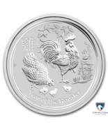 2017 2 oz Australia Silver Year of the Rooster BU - €51,02 EUR