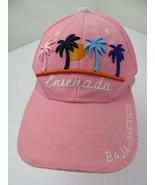 Ensenada Baja Mexico Palm Trees Pink Adjustable Adult Ball Cap Hat - £10.09 GBP
