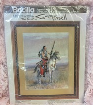 "Bucilla Stitchery Kit CM Charles Russell ""The Scout"" 11x14 Sid Richardson Museum - $34.64"
