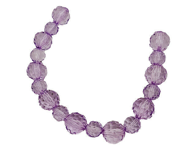 Acrylic Round Lavender Beads, 12 Inches