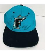 Florida Marlins Baseball Hat 1993 Inaugural Autographed Briley  Perez We... - $49.49