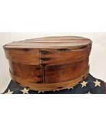 Vintage Primitive Round Bentwood Shaker Pantry Cheese Box Wood Slatted N... - $49.49