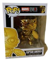 Funko Vinyl figure Pop! Marvel 10th Anniversary Gold Chrome Captain Amer... - $15.15