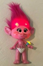 "Troll Poppy Doll Singing Talking Light Up Hair and Ring 15"" Hasbro 2015 ... - $14.99"