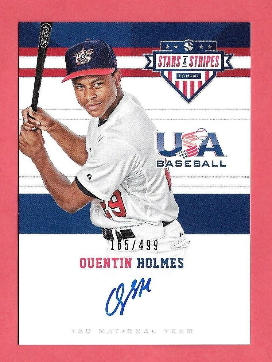 2017 Quentin Holmes Panini USA Stars and Stripes Rookie Auto 165/499 - Indians