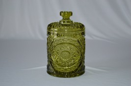 Imperial Glass Green Americana #282 Large Covered Jar - $17.82